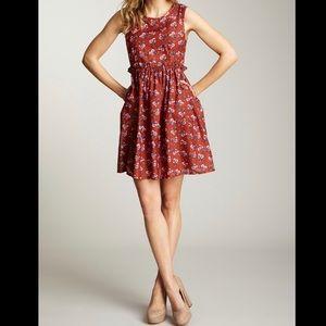 Tulle Sleeveless Floral Print Dress